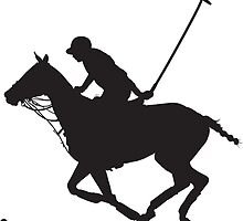 Polo Pony Silhouette by Maria Bell