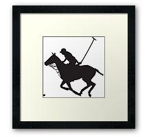 Polo Pony Silhouette Framed Print