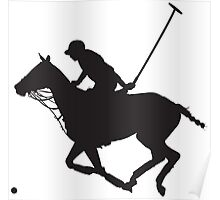 Polo Pony Silhouette Poster