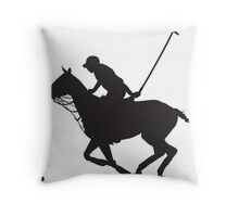 Polo Pony Silhouette Throw Pillow