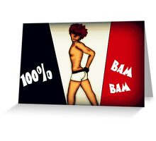 100% Bam Bam Greeting Card