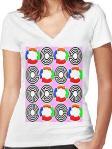 art nouveau Women's Fitted V-Neck T-Shirt