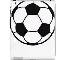 Soccer Ball black and white iPad Case/Skin