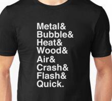 Mega Man 2 Robot Master Typography Shirt Unisex T-Shirt