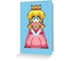 Pixel Peach 32-bit Greeting Card