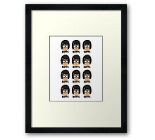 Tina - Butts! Framed Print
