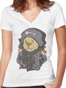 Captain Cat Women's Fitted V-Neck T-Shirt