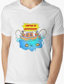Mine's Bigger Mens V-Neck T-Shirt