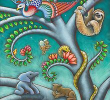 Tree o Life triptych - panel 2 by Eya Claire Floyd