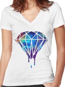 Diamond Drop Shinee Women's Fitted V-Neck T-Shirt