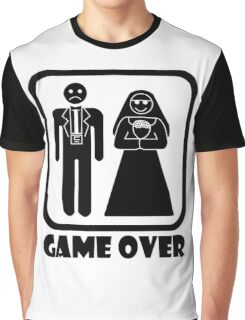 Game Over Wedding Graphic T-Shirt