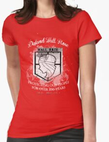 Defend Wall Rose! Womens Fitted T-Shirt