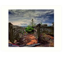 Shipwreck at Neys Provincial Park No.23 Art Print