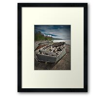 Shipwreck at Neys Provincial Park  No. 1737 Framed Print