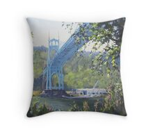 St Johns Bridge Throw Pillow