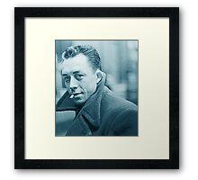 Albert Camus Blue Framed Print