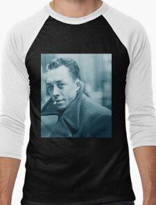 Albert Camus Blue Men's Baseball ¾ T-Shirt