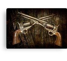 A Brace of Navy Colt Revolvers Canvas Print