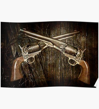 A Brace of Navy Colt Revolvers Poster
