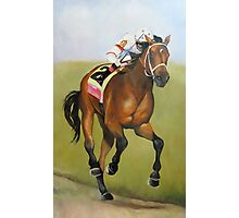 Big Brown Race Horse Photographic Print