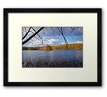 Hall Lake in Autumn Framed Print