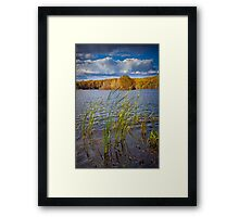 Hall Lake in Autumn No 0086 Framed Print