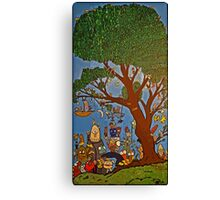 Picnic under Tree Canvas Print