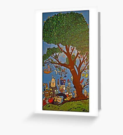 Picnic under Tree Greeting Card