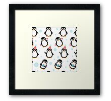 Pattern with penguins Framed Print