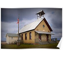 Old Country Schoolhouse Poster