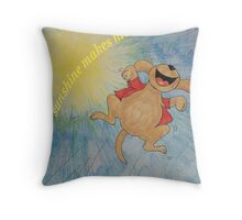 Sunshine makes me happy :) Throw Pillow