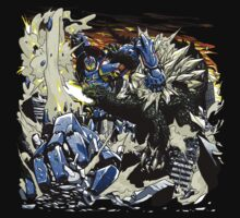 First Kaiju Battle by coinbox tees