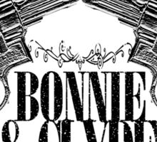Bonnie & Clyde Crossed Guns Sticker
