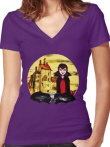 Transylvania Mavis night Women's Fitted V-Neck T-Shirt