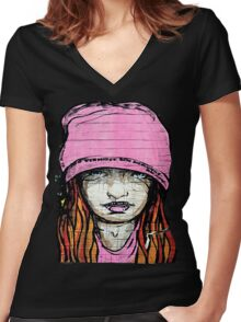 DirtyT Women's Fitted V-Neck T-Shirt