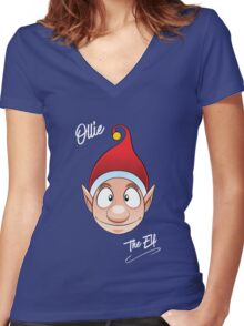 Ollie the Elf Women's Fitted V-Neck T-Shirt