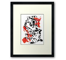 Black and Red Framed Print