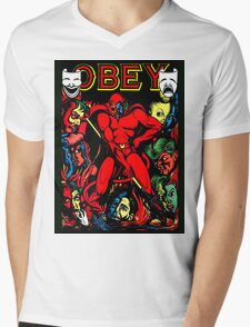 Obey Mens V-Neck T-Shirt