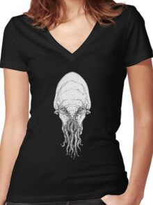 Dr. Who OOD big Women's Fitted V-Neck T-Shirt