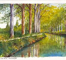 Canal du Midi at Toulouse France by Dai Wynn