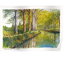 Canal du Midi at Toulouse France Poster