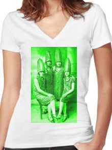 The Glorious Pickle Ladies of Venus Women's Fitted V-Neck T-Shirt