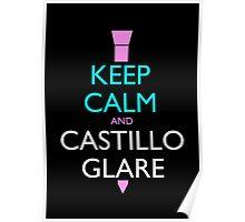 Keep Calm and Castillo Stare (Miami Vice - Black) Poster