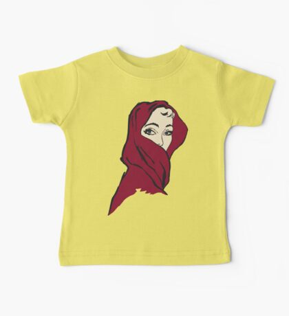 The woman with the crimson veil, retro vintage style Baby Tee