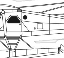 de Havilland Canada (DHC-2) Beaver Blueprint Sticker