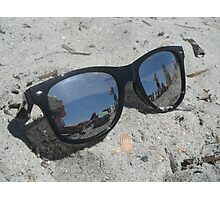Sunglasses in the Sand Photographic Print