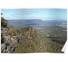 Hargraves lookout, Blackheath Poster