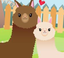 Alpaca's couple Sticker