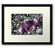 Purple Seaweed Framed Print