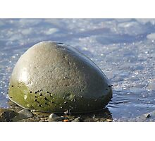 Green Ocean Rock Photographic Print